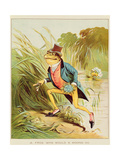 Illustration from 'A Frog He Would A-Wooing Go' Giclee Print by Randolph Caldecott
