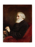 Portrait of Ivan Sergeevich Turgenev (1818-83) 1872 Giclee Print by Vasili Grigorevich Perov
