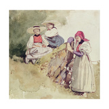 Three Females Giclee Print by Richard Parkes Bonington