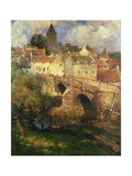 A Village in East Linton, Haddington Giclee Print by James Paterson