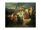 Charlemagne (742-814) Received at Paderborn under the Rule of Witikind in 785 Giclee Print by Ary Scheffer