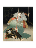Ichikawa Danjuro VII Overpowering an Officer of the Law, C.1830-44 Giclee Print by Kuniyoshi Utagawa