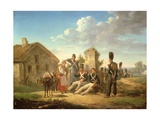 Landscape with Soldiers Giclee Print by Bernard Edouard Swebach