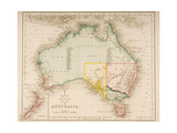 Map of Australia and New Zealand Giclee Print by J. Archer