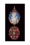 Portrait Miniature of Queen Anne of Denmark (1574-1619) with Jewelled Cover, C.1611 Giclee Print by Nicholas Hilliard