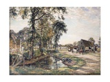 The Manor Farm Giclee Print by Mark Fisher