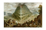 The Building of the Tower of Babel Giclee Print by Marten van Valckenborch
