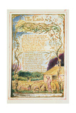 The Lamb: Plate 8 from 'Songs of Innocence and of Experience' C.1815-26 Giclée-tryk af William Blake