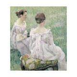 Two Seated Women, 1899 Giclee Print by Viktor Elpidiforovich Borisov-musatov