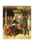 The Calf Merchant Giclee Print by Guiseppe Palizzi