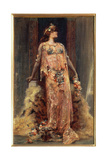 Sarah Bernhardt (1844-1923) in the Role of Cleopatra Giclee Print by Georges Clairin