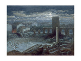 The Roman Theatre, Arles, Moonlight Giclee Print by George Henry Andrews