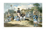 A Group of Chinese on the Bank of a River, Watching the Earl Macartney's Embassy Pass, 1793 Giclee Print by William Alexander