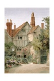 An Old Manor House and Garden Giclee Print by Thomas Nicholson Tyndale