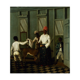 Negro Servants Washing a Deer Giclee Print by Agostino Brunias