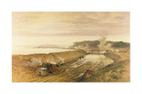 The Making of Eastham Lock on the Manchester Ship Canal Giclee Print by Benjamin Williams Leader