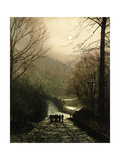 The Timber Waggon Giclee Print by John Atkinson Grimshaw