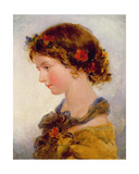 Portrait of a Young Girl Giclee Print by James II Fisher