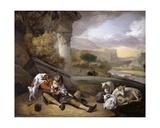 Landscape with Shepherd Boy, 1664 Giclee Print by Jan Weenix
