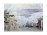 The Grand Canal, Venice Giclee Print by Richard Parkes Bonington
