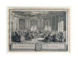 The Concert at the House of the Countess of Saint Brisson, Engraved by L. Provost Impression giclée par Augustin De Saint-aubin