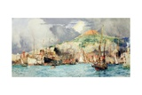 Shipping in Naples Giclee Print by Charles Edward Dixon