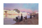 Washerwomen on the Banks of the Nile Giclee Print by Eugene Alexis Girardet
