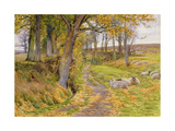 An Autumn Afternoon Giclee Print by Charles James Adams