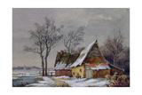 Winter Scene in the Low Countries Giclee Print by Edmond Jean