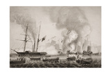 The Hon. East India Company's Steamer Nemesis and the Boats of the Sulpher, Calliope,Larne and… Giclee Print by G.W. Terry