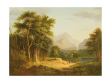 Highland Landscape with Figures Giclee Print by Alexander Nasmyth