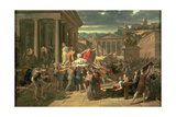 The Death of Caesar (100-44 BC) Giclee Print by Guillaume Lethiere
