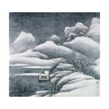 Snow Covered Landscape, from an Album of 'The Four Seasons' Giclee Print by  Gong Xian