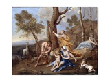 The Nurture of Jupiter, Mid-1630s Giclee Print by Nicolas Poussin