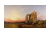 The Ramesseum at Thebes, Sunset, 1840 Giclee Print by William James Muller
