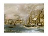 Winter Landscape Giclee Print by Jan Van De Capelle Or Cappelle