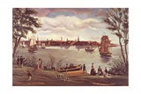 New York after Independence, Seen from the East River Giclee Print by George Torino