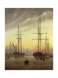 View of a Harbour, 1815-16 Wydruk giclee autor Caspar David Friedrich