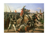 Duke of Friedland (1583-1634) at the Charge of Wallenstein 1632, 1839 Giclee Print by Feodor Dietz