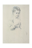 Portrait Study of a Young Girl Giclee Print by Margaret Sarah Carpenter
