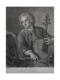 Portrait of John Hebden (Fl.1740-60), a Cellist in Handel's Orchestra, Engraved by John Faber… Giclee Print by Philippe Mercier
