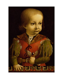 Francesco Sforza as a Child Giclee Print by Giovanni Ambrogio De Predis