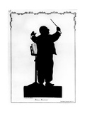 Silhouette of Anton Bruckner (1824-96) Austrian Composer, Conducting Giclee Print by Otto Bohler