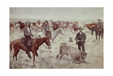 Branding a Steer Giclee Print by Frederic Sackrider Remington