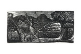 The Good Shepherd Chases Away the Wolf, Illustration from Dr. Thornton's 'The Pastorals of Virgil' Giclee Print by William Blake