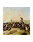 Louis-Philippe (1773-1850) Visiting the Battlefield of Valmy on 8th June, 1831 Giclee Print by Jean Baptiste Mauzaisse