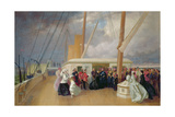 Queen Victoria Investing the Sultan with the Order of the Garter on Board the Royal Yacht, 17th… Giclee Print by George Housman Thomas