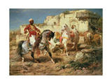 Arab Horsemen Giclee Print by Adolf Schreyer