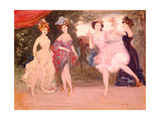Four Dancing Girls on the Stage Giclee Print by Charles Edward Conder
