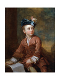 Portrait of a Young Boy, C.1735 Giclee Print by Bartholomew Dandridge